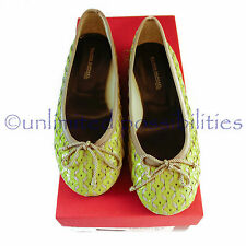 FILIPPO RAPHAEL Shoes New Ecstacy Flats Womens Designer Yellow Size 36 Box