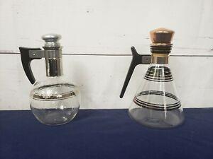 Vintage Glass Oil Vinegar Dressing Carafe Cruets