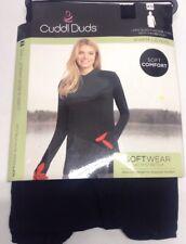 CUDDL DUDS XS Black Softwear Long Sleeve Hoodie Tunic w/ Thumbholes NWT $52 Soft