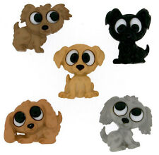 Playing Puppies Novelty Buttons//DIY Sewing supplies/Plastic Buttons/Kids Craft