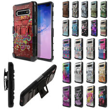 """For Samsung Galaxy S10+ / S10 Plus 6.4"""" Holster Hybrid Silicone Case Cover"""