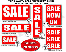Sale Posters and Sale Signs Value Red package Shop window advertising Display