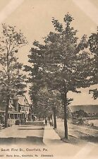 Scene on South First Street in Clearfield PA Postcard