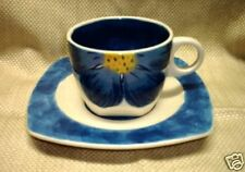 "Ceramic Hand Painted Floral Cup Saucer 31/4""Tall  (New)"