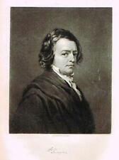 "Portrait of ""TENNYSON"" - Engraving - c1840"