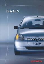 Toyota Yaris Prospekt 11 99 brochure 1999 Auto PKWs Japan Autoprospekt Asien