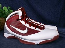 New NIKE Maroon Silver HYPERIZE TB Shoes US 17.5