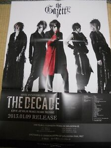 the GazettE PSC [THE DECADE] Visual-Kei POSTER  JapanLimited! !
