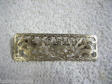 Aztec Figure Carved Brooch Pin Vintage Guatemala 900 Silver Mayan