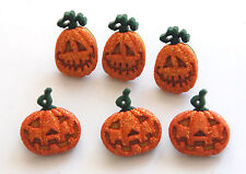 Glitter Pumpkins / Halloween Shank Buttons / Dress It Up Jesse James Co #4859