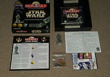 Star Wars Monopoly Collector Edition CD-ROM PC GAME with Anakin Figure / coins
