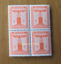 EBS Germany 1942 8 Pfennig Nazi Party Official Dienst BLOCK 4 MNH Michel 160**