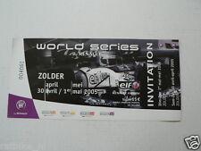 RENAULT ZOLDER WORLD SERIES 2005 INVITATION INFOCARD-POSTCARD