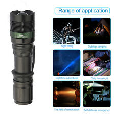 Flashlight Torch Super Bright Camping Light 10000LM Zoomable CREE XM-L T6 LED