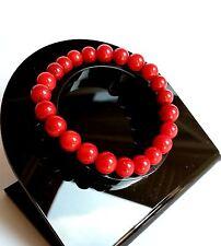 Bracelet en Pierre Naturelle Lithothérapie Minéraux Bijoux Racine de Corail