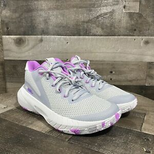 Under Armour Hovr Breakthru Sneakers Shoes Purple Grey 3024398-104 Womens Sz 6