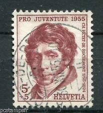 SUISSE SCHWEIZ 1955, timbre 567, PICTET ROCHEMONT CELEBRITE, CELEBRITY, oblitéré