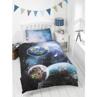 Kids Glow in the Dark  Planets Duvet Cover Set Single Size-bm