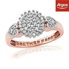 Cluster Rose Gold I3 Fine Diamond Rings