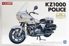 Aoshima 1/12 Kawasaki KZ1000 Police Motorcycle Plastic Model Kit 054598 AOS05459