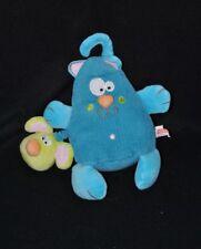 Peluche doudou chat bleu CREATIVTOYS souris vert vibrante 20 cm TTBE