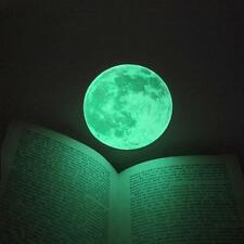 Luminous Moon Wall Moonlight Sticker Glow in the Dark Room Home Decor Mural 10CM