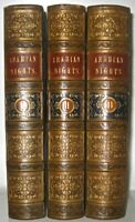 LEATHER Set;THOUSAND ARABIAN NIGHTS,ENTERTAINMENTS!(FIRST ENGLISH EDITION 1839!)