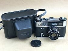 FED 5 Perestroika 35mm Russian Rangefinder Camera w/50mm F/2.8 Lens - Very Clean