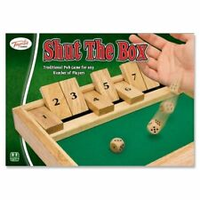 Traditional Wooden Shut The Box Family Fun Kids Adult Play Gift Pub English Game