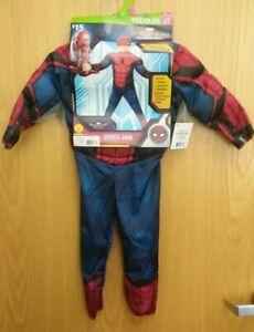 HALLOWEEN Toddler Costume Spider-Man  Sz 12T (2 Piece)