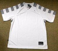 Nike sz L Jordan Team Shooting Men's Basketball Shirt NEW  427356 101 White