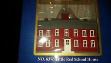 Model Power Little Red School Housew/interior light+2 People O Scale, # 6376-NIB