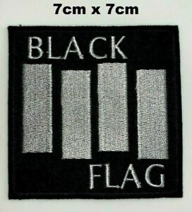 Black Flag Hard Punk Rock Music Iron Sew on Embroidered Patch Jacket Jeans