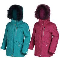 Regatta Kids Waterproof Padded Jacket Camping Hooded Girls Parka Coat Palomina