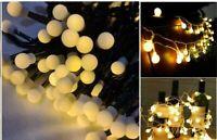 100 Bulb Berry Ball Fairy LED String Lights Timer Christmas Xmas Party Tree