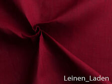 Burnt Red Luxury Plain Cotton Linen Fabric OG565 10 Colours Dress Craft