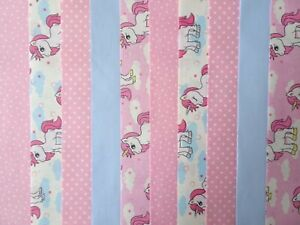 10 JELLY ROLL STRIPS 100% COTTON PATCHWORK CRAFT FABRIC ~ MAGICAL UNICORN