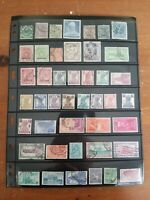 India - British Colonies & Republic - Stamp Collection - Used - 4 Scans - Q41