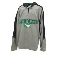 North Dakota Fighting Hawks NCAA Adult Size Hooded Quarter Zip Sweatshirt New