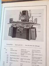 Bedienungsanleitung Blohm Flachschleifmaschine Flächenschleifmaschine