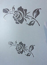 Rose Plant Flowers A4 Mylar Reusable Stencil Airbrush Painting Art Craft