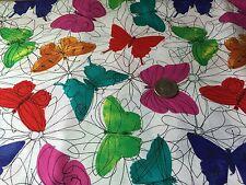 Colorful Butterflies & Flowers Bug Jar Novelty Quilt Fabric Fat Quarter FQ FQs