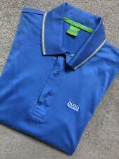 """Hugo Boss Green Label Blue """"GR-Patry 2"""" Regular Fit S/S Polo Shirt Top - Medium"""