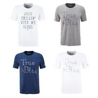 4er Pack Mustang Herren T-Shirt mit Frontprint-Rundhals-Farbmix /Legerer Schnitt