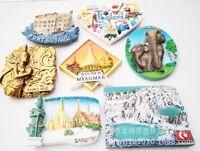 Welt Reise Souvenirs 3D Harz Kühlschrank Magnet Nationale Tourist Attraktion