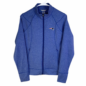 New England Patriots NFL Full Zip Jacket Women's Small Blue CB DryTec 50+ UPF