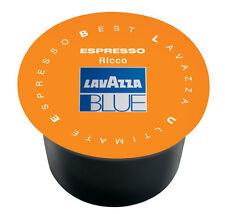 100 CAPSULE RICCO LAVAZZA BLUE CAFFE' ORIGINALI CIALDE BLU OFFERTISSIMA