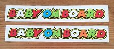 BABY ON BOARD - ROSSI THE DOCTOR Style Stickers 2 x 246mm Printed and laminated
