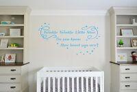 Twinkle Twinkle, Lullaby, Nursery, Children's  wall art vinyl decal sticker