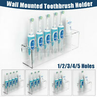 Electric Toothpaste + Toothbrush Holder Wall Mount Stand Bathroom Organiser USA